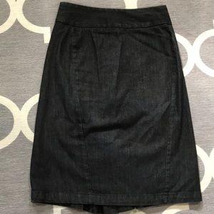 Black denim banana republic pencil skirt size 2
